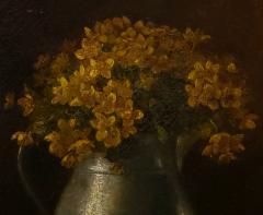Benjamin Champney Benjamin Champney Still Life Painting of Yellow Flowers - 1303737