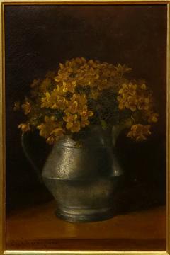 Benjamin Champney Benjamin Champney Still Life Painting of Yellow Flowers - 1303739