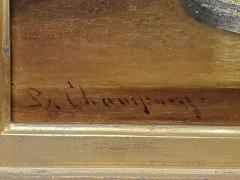 Benjamin Champney Benjamin Champney Still Life Painting of Yellow Flowers - 1303743