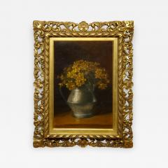 Benjamin Champney Benjamin Champney Still Life Painting of Yellow Flowers - 1303828