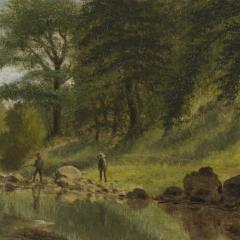 Benjamin Hartley On the Marmaton River Kansas 1880 - 331047