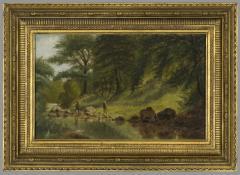 Benjamin Hartley On the Marmaton River Kansas 1880 - 331048