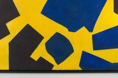 Bent S rensen Bent Sorensen Colorful Abstract Painting on Board Denmark 1990s - 1535972