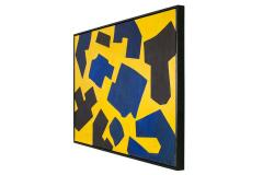 Bent S rensen Bent Sorensen Colorful Abstract Painting on Board Denmark 1990s - 1535974