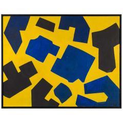 Bent S rensen Bent Sorensen Colorful Abstract Painting on Board Denmark 1990s - 1535975