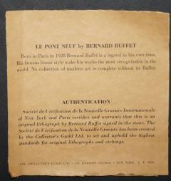Bernard Buffet Bernard Buffet Le Pont Neuf 1968 - 1764760