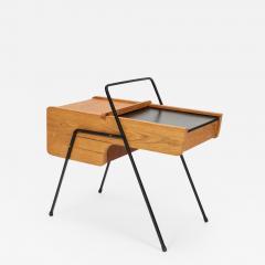 Bernard De Swarte French side table oak 50s - 2021255