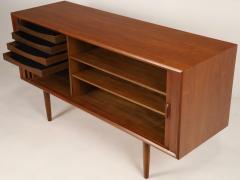 Bernard Pedersen Scandinavian Modern Teak Sideboard Credenza Designed by Bernard Pedersen - 2012381