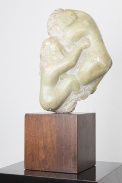 Bernard Simon Etched Marble Lovers Embrace by Bernard Simon - 356128