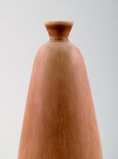 Berndt Friberg Hand art pottery vase Unique handmade Amazing glaze in shades of golden brown - 1293122