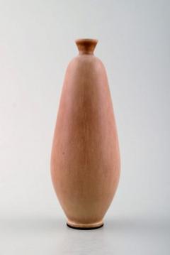 Berndt Friberg Hand art pottery vase Unique handmade Amazing glaze in shades of golden brown - 1293123