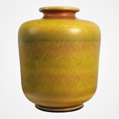 Berndt Friberg Large Yellow Stoneware Vase by Berndt Friberg for Gustavsberg - 217161