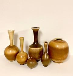 Berndt Friberg Set of 6 Vases by Berndt Friberg for Gustavsberg Sweden - 1353781