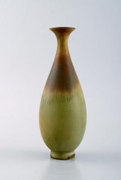 Berndt Friberg Vase in glazed ceramics 1950 60s Beautiful glaze in brown and green tones - 1293108