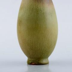 Berndt Friberg Vase in glazed ceramics 1950 60s Beautiful glaze in brown and green tones - 1293118