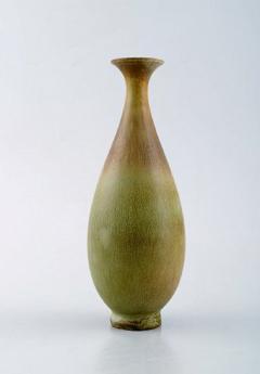 Berndt Friberg Vase in glazed ceramics 1950 60s Beautiful glaze in brown and green tones - 1293119