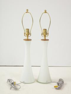 Berndt Nordstedt A pair of Swedish Milk Glass Table Lamps Bergboms Circa 1960s - 1458307