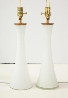 Berndt Nordstedt A pair of Swedish Milk Glass Table Lamps Bergboms Circa 1960s - 1458308
