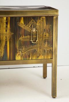 Bernhard Rohne Bernhard Rhone Acid Etched Aged Brass Credenza - 1266786