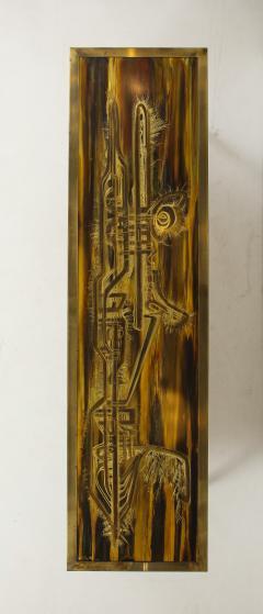 Bernhard Rohne Bernhard Rhone Acid Etched Aged Brass Credenza - 1266787