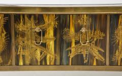 Bernhard Rohne Bernhard Rhone Acid Etched Aged Brass Credenza - 1266788