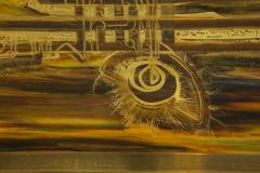 Bernhard Rohne Bernhard Rhone Acid Etched Aged Brass Credenza - 1266789