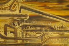 Bernhard Rohne Bernhard Rhone Acid Etched Aged Brass Credenza - 1266790