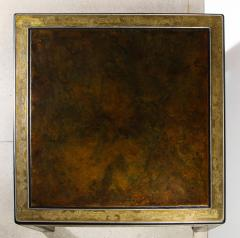 Bernhard Rohne Bernhard Rohne Mastercraft Acid Etched Brass Coffee Table with Lacquered Center - 1116571