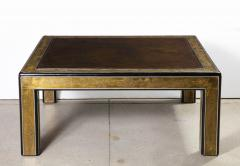 Bernhard Rohne Bernhard Rohne Mastercraft Acid Etched Brass Coffee Table with Lacquered Center - 1116573