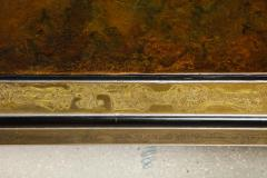 Bernhard Rohne Bernhard Rohne Mastercraft Acid Etched Brass Coffee Table with Lacquered Center - 1116575