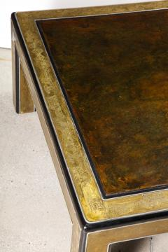 Bernhard Rohne Bernhard Rohne Mastercraft Acid Etched Brass Coffee Table with Lacquered Center - 1116587