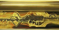 Bernhard Rohne Large Brass and Bronze Mirror - 1703317