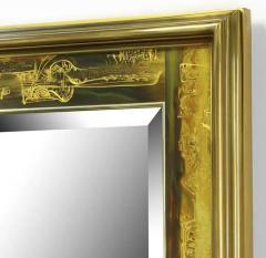 Bernhard Rohne Large Brass and Bronze Mirror - 1703318