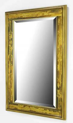Bernhard Rohne Large Brass and Bronze Mirror - 1703319