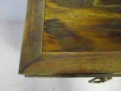 Bernhard Rohne Outstanding Acid Etched Brass Credenza by Bernard Rohne Mastercraft - 1684935