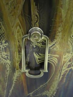 Bernhard Rohne Outstanding Acid Etched Brass Credenza by Bernard Rohne Mastercraft - 1684936