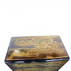 Bernhard Rohne Small Commode Acid Etched Brass Chest of Drawers Bernhard Rohne for Mastercraft - 2126235