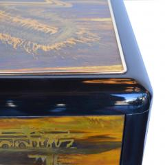 Bernhard Rohne Small Commode Acid Etched Brass Chest of Drawers Bernhard Rohne for Mastercraft - 2126239