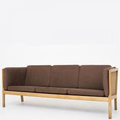 Bernt Petersen Oak and Cane 3 Seat Sofa - 354152