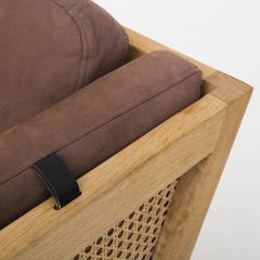 Bernt Petersen Oak and Cane 3 Seat Sofa - 354153