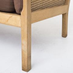 Bernt Petersen Oak and Cane 3 Seat Sofa - 354154