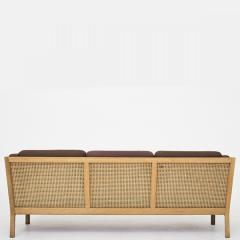 Bernt Petersen Oak and Cane 3 Seat Sofa - 354156