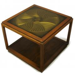 Bert England Bert England East Indian Laurel Side Table with Etched Brass Top for Baker - 900135