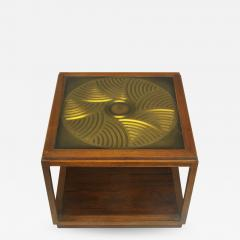 Bert England Bert England East Indian Laurel Side Table with Etched Brass Top for Baker - 901589