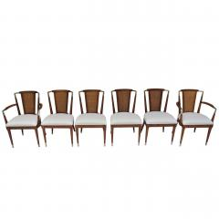 Bert England Bert England Forward Trend Six Cane and Brass Accented Dining Chairs 1960 - 570029