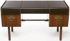 Bert England Bert England Persian Walnut and Leather Desk for John Widdicomb - 697577