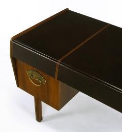 Bert England Bert England Persian Walnut and Leather Desk for John Widdicomb - 697584