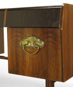 Bert England Bert England Persian Walnut and Leather Desk for John Widdicomb - 697585