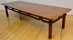 Bert England Brass Inlayed Asian Style Coffee Table Johnson Furniture Co circa 1960 - 570595
