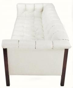 Bert England Rare Bert England for Interior Crafts Faux Ostrich and Mahogany Tuxedo Sofa - 898956